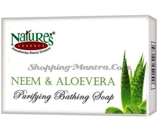 Увлажняющее мыло для лица и тела Алое Вера / Nature's Essence Aloe Vera Soap