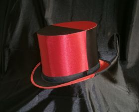 Красно-черная шляпа шапокляк