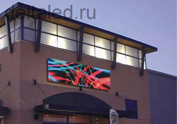 Полноцветная видеовывеска (экран) с шагом пикселя 10 мм под ключ