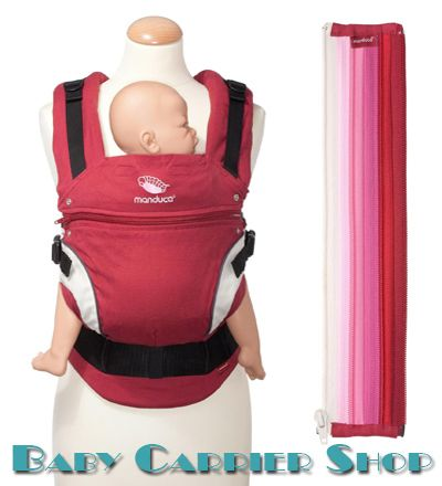 Вставка на молнии в удлинение спинки для слинг-рюкзака MANDUCA Baby And Child Carrier «ZIPIN Pink» [Мандука Розовая]