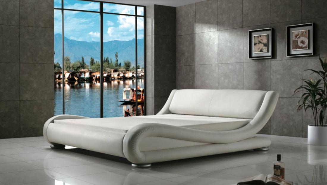 Кровать AY203 NightCat (Белый цвет) | LineSleep