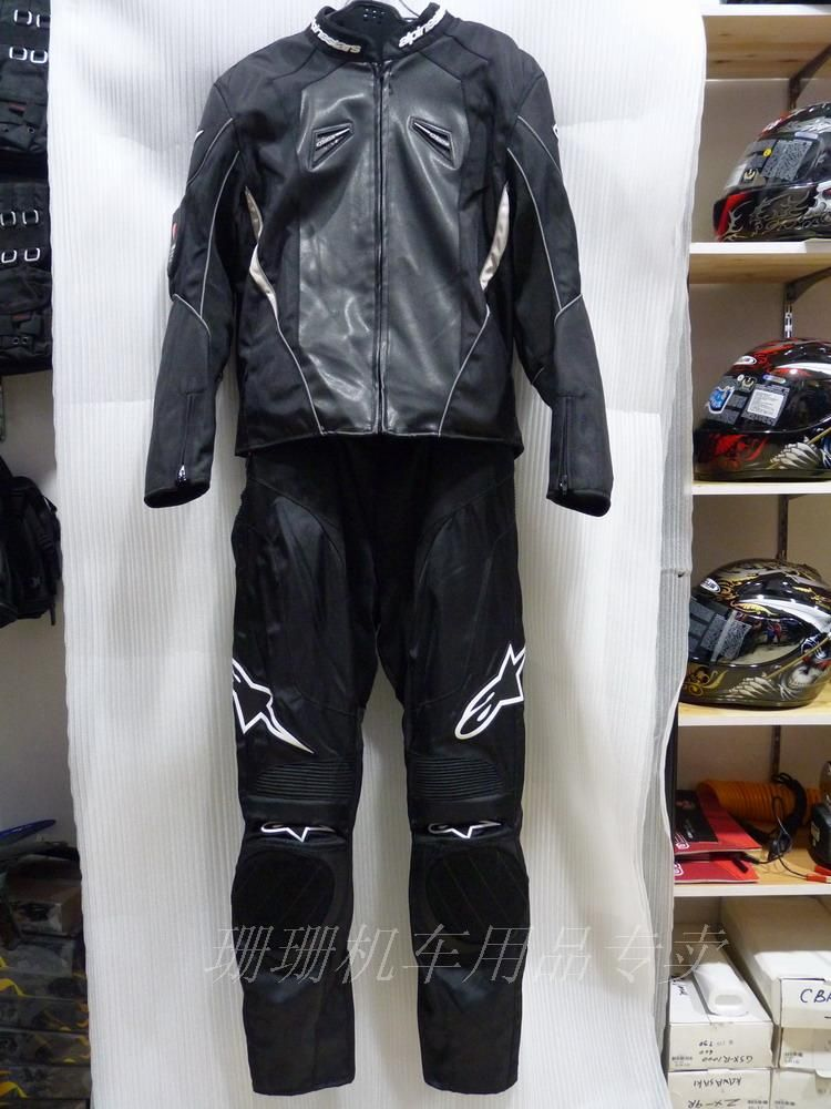 Мотокуртка и мотоштаны Alpinestars moto GP (комплект) черный