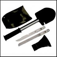Набор для выживания - лопата, нож, пила, топор
