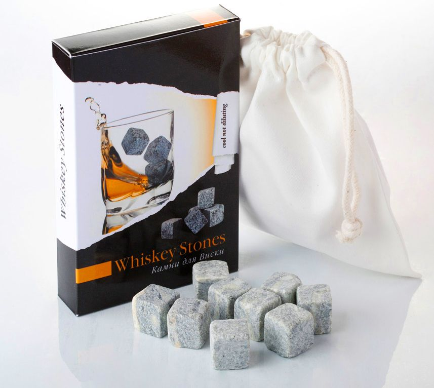 Камни для виски "Whiskey Stones" 12 штук