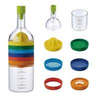 Кухонный комплекс-гаджет: Бутылка-терка «8 в 1»