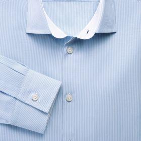 Мужская рубашка синяя Charles Tyrwhitt сильно приталенная Extra Slim Fit