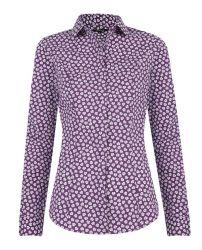 Женская рубашка сиреневая T.M.Lewin приталенная Fitted (48185)