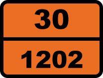 """""""30-1202. Дизель"""". Табличка опасный груз"""