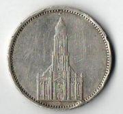 5 рейхсмарок. 1935 год. А. Cеребро.