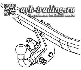 Фаркоп Thule 570300 для Toyota RAV4 2013-, с шаром типа A