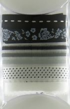 набор тесьмы для скрапбуинга ЧЁРНО-БЕЛОЕ 5 шт*0,9 см  ширина 1-1,5 см