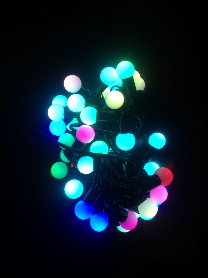"""Светодиодная гирлянда """"Шарики"""" 6 метров, 40 диодов, RGB для уличного применения"""