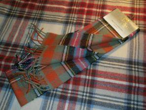 Шотландский теплый шарф 100% шерсть , расцветка клан Брюс, плотность 6.