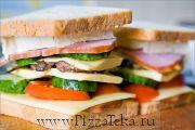 Сэндвич с молосольной семгой