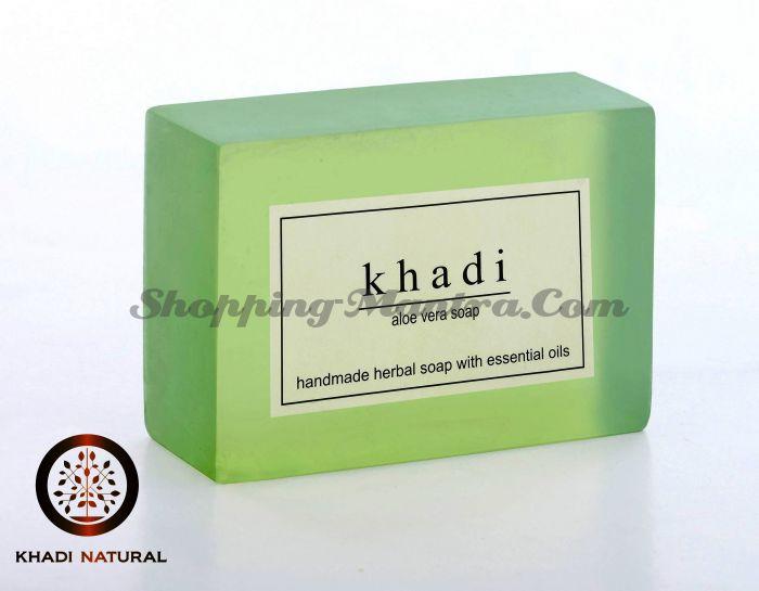 Мыло с натуральными эфирными маслами Алое вера (2шт.) (Khadi Herbal Aloevera Soap)
