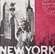 салфетка НЬЮ-ЙОРК 3-слойная 33*33