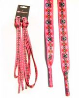 Шнурки Heelys Gray Pink Logo Scull
