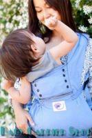 Слинг-рюкзак ERGO Baby CARRIER Эргономичный детский рюкзачок-переноска для малышей «SPORT COLLECTION Blue» [Эрго BC15SPH голубой]