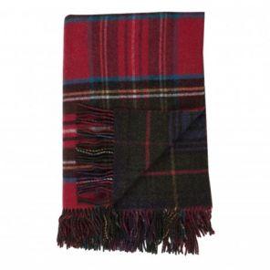 плед шотландский двусторонний, 100 % стопроцентная шотландская овечья шерсть, расцветка Королевский клан Стюарт(вересковый и охотничий тартан), плотность 10