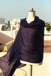 Фиолетовый палантин из 100% пашмины (кашемира)