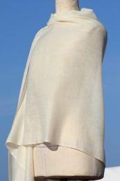Белая кашмирская шаль 200x70