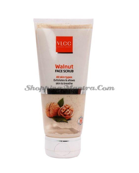 Защитный скраб для лица с грецким орехом VLCC Walnut Scrub