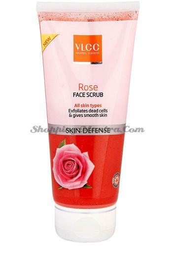 Защитный скраб для лица с розой VLCC Rose Face Scrub
