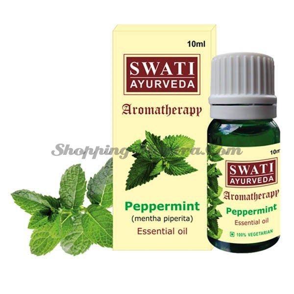 Эфирное масло Мята Свати Аюрведа / Swati Ayurveda Pippermint Essential Oil