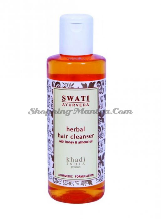 Травяной шампунь Мёд&Миндальное масло Свати Аюрведа / Swati Honey&Almond Oil Shampoo