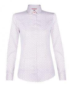 Женская рубашка белая с рисунком T.M.Lewin приталенная Fitted (50278)