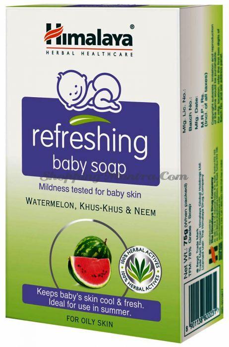 Детское освежающее мыло Арбуз&Ним Хималая / Himalaya Refreshing Baby Soap