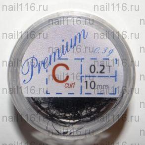 Ресницы в банках 0,3 гр черные (PREMIUM) C 0,2 10 мм (HS Chemical)
