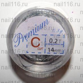 Ресницы в банках 0,3 гр черные (PREMIUM) C 0,2 14 мм (HS Chemical)