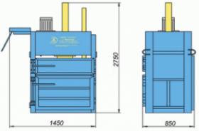 Пресс гидравлический пакетировочный ПГП-15-1МУ