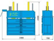 Пресс гидравлический пакетировочный двухкамерный ПГП-16-Д