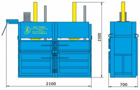Пресс гидравлический пакетировочный двухкамерный ПГП-10-Д