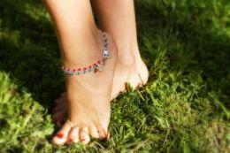 Браслеты на ногу из серебра