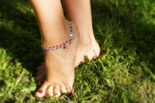 Пара браслетов на ногу из серебра 925 пробы! (под заказ)
