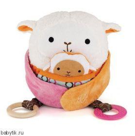 Развивающая игрушка-обнимашка Овечка