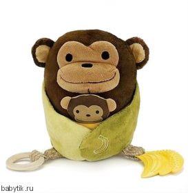 Развивающая игрушка-обнимашка Обезьянка