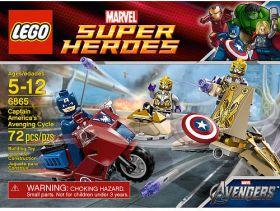 6865 Лего Мотоцикл Капитана Америка