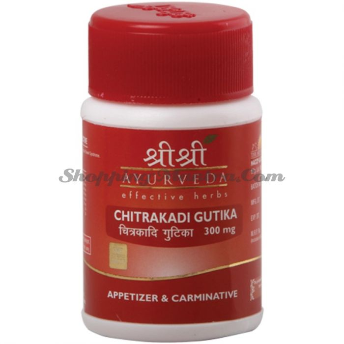 Читракади для аппетита и пищеварения Шри Шри Аюрведа (Sri Sri Ayurveda Chitrakadi Gutika)