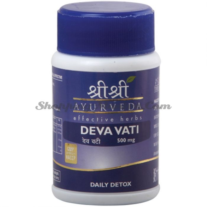Дева Вати для ежедневной детоксикации Шри Шри Аюрведа (Sri Sri Ayurveda Deva Vati)