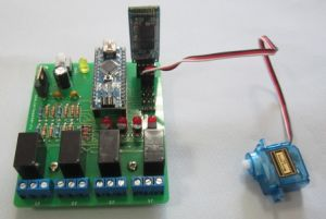 Блок управления сервомоторами и реле.