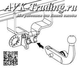 Фаркоп Bosal 040-273 для Suzuki SX4 S-Cross (2013–), быстросъёмный крюк-автомат AK10
