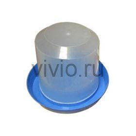 Поилка для кур  5л пластиковая вакуумная