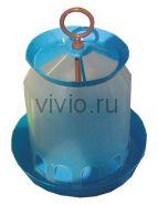 Кормушка для кур  10л пластиковая бункерная