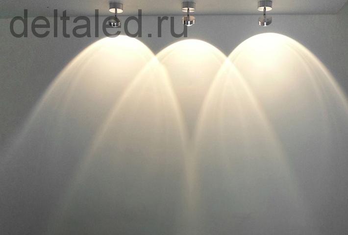 Светильник направленный с линзой 3W Deltaled