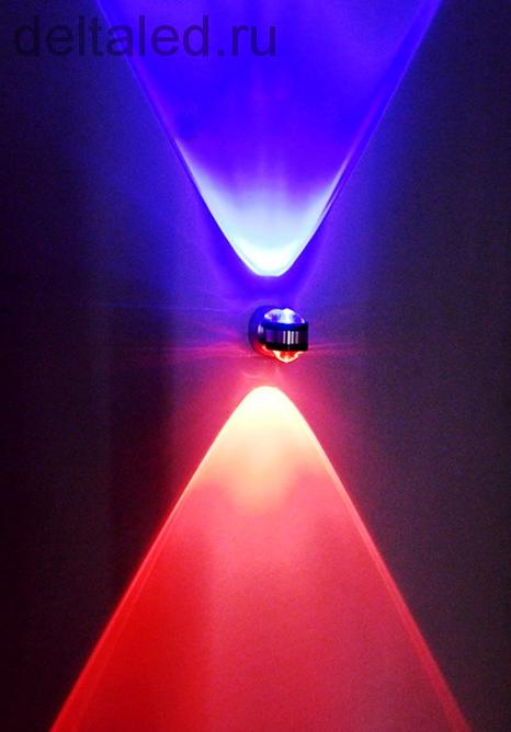Светильник настенный двухсторонний с линзами, 6W Deltaled