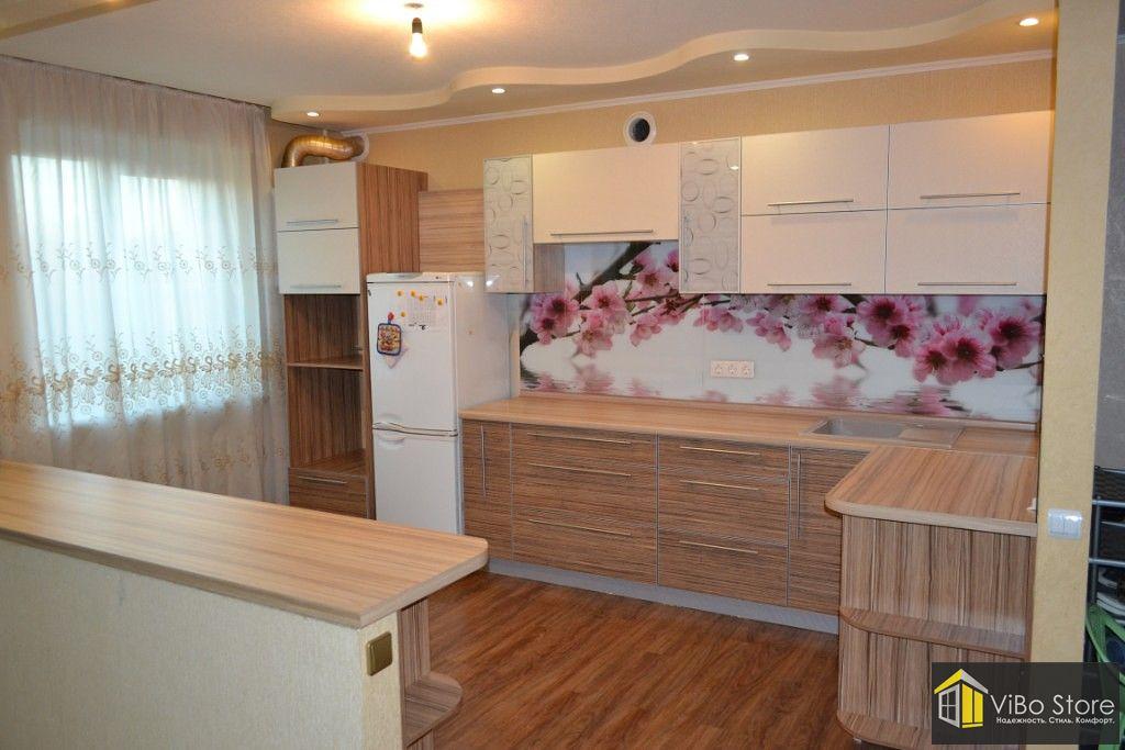 Угловая кухня МДФ в пленке 021